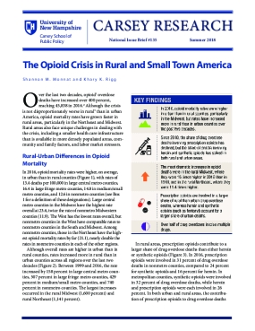 The Opioid Crisis in Rural and Small Town America