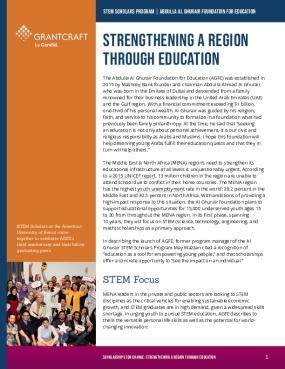 Strengthening A Region Through Education