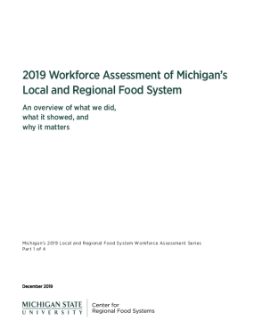 2019 Workforce Assessment of Michigan's Local and Regional Food System