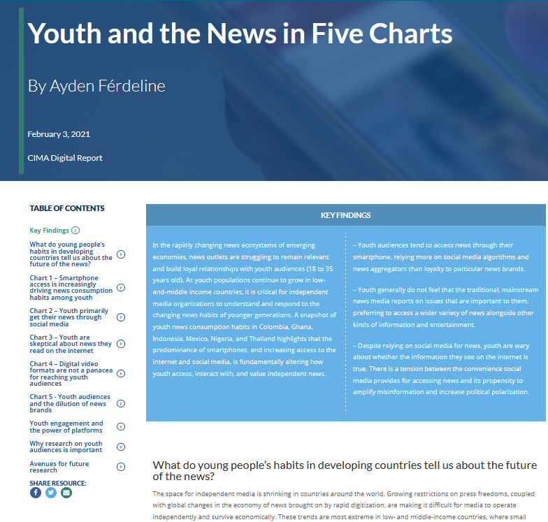 Youth and the News in Five Charts