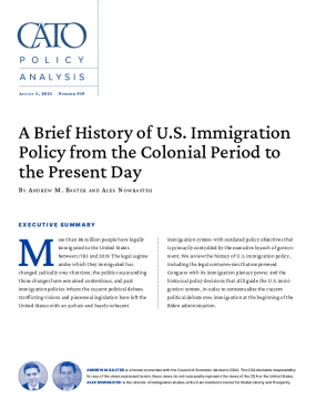 A Brief History of U.S. Immigration Policy from the Colonial Period to the Present Day